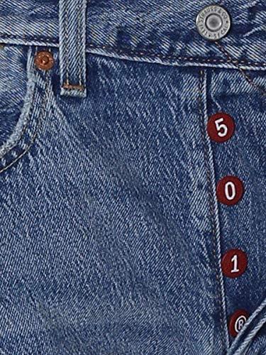 Jeans Levis 501 Cinque Tasche Taglio Dritto Con Allacciatura a Bottoni 34268