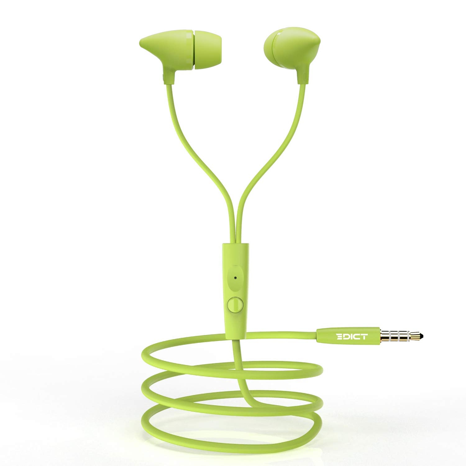 [Apply coupon] EDICT by Boat EEP01 Wired Earphones with Powerful Bass, Perfect Length Cable, Lightweight Ergonomic Design, Voice Assistant, Multi-Function Control & in-Line Mic(Lime)