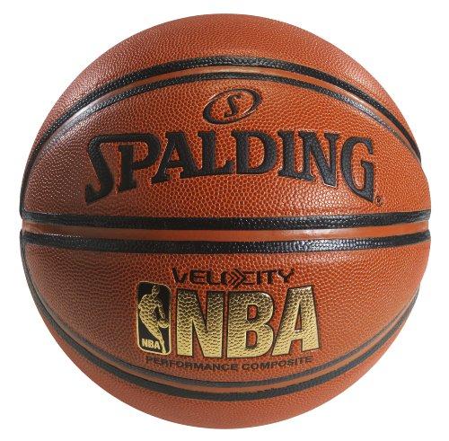 Spalding NBA Velocity Balón de básquetbol, tamaño oficial 7 (29.5 in)