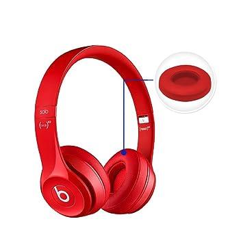 ThreeCat Beats Solo 2.0/3.0 Almohadillas de Repuesto de Espuma viscoelástica para Auriculares Beats Solo