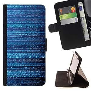 For Samsung Galaxy Note 5 5th N9200 Case , Patrón Código misteriosa de ciencia ficción- la tarjeta de Crédito Slots PU Funda de cuero Monedero caso cubierta de piel