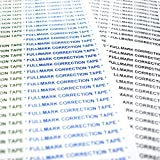 "Fullmark Correction Tape Model E, 0.2"" X 236 Inches each, 24-pack"