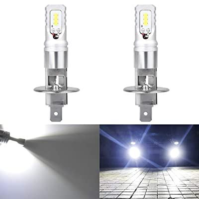 KATUR Extremenly Bright H1 Daytime Running Bulbs or Fog Lights TOP Advanced CSP LED Chips Car DRL Led- 6500K Xenon White 1600LM Waterproof IP68 80W - 3 Yr Warranty: Automotive