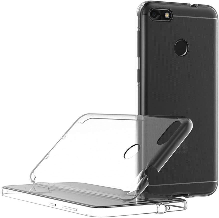 AICEK Coque Huawei Y6 Pro 2017, 360°Full Body Transparente Silicone Coque pour Huawei Y6 Pro 2017 Housse Silicone Etui Case (5,0 Pouces)