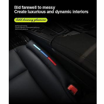 S Weka 2pcs Faux Leather Car Seat Gap Pad Fillers Spacer Filler Slot