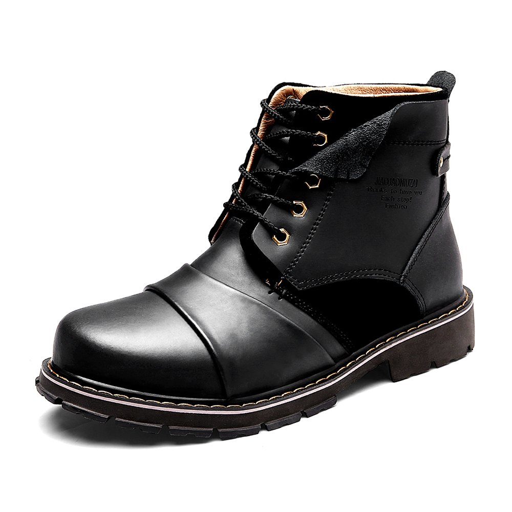 ENLEN&BENNA Men's Work Boots Fashion Casual Boot Motorcycle Boots Ankle Boots Dress Boots Combat Boots Cap Toe by ENLEN&BENNA (Image #2)