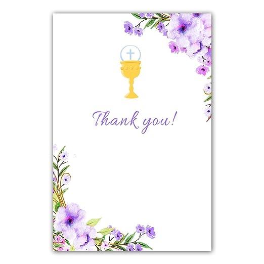 30 tarjetas de agradecimiento en blanco para niña de primera ...