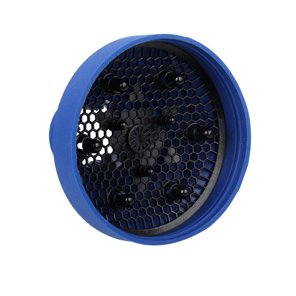 Golpe Secador De Pelo Difusor De Silicona Portátil Retráctil Azul Plegable Genérico