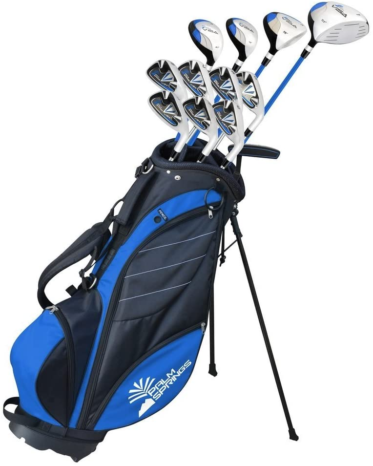 """Palm Springs Golf,1"""" TALL GRAPHITE & STEEL Club Set-Best for tall beginners"""