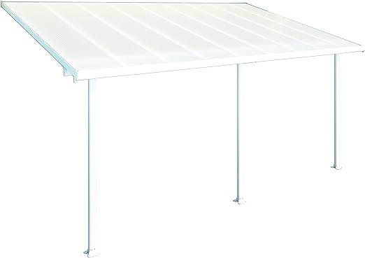 Palram- Pergola Feria Blanca 3x5.4- Aluminio y policarbonato.: Amazon.es: Jardín