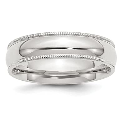 6mm Milgrain Sterling Silver Wedding Band Mens Women Ring Size 4 To 13.5 Jewelry & Watches