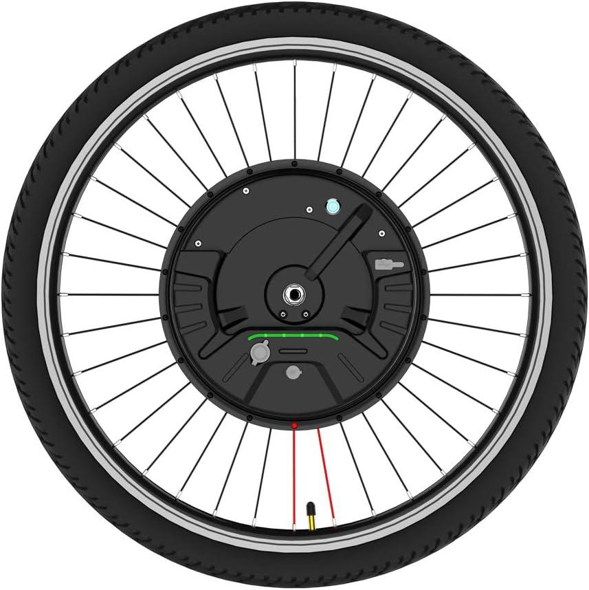 """Kit de conversión de rueda delantera Kit de conversión de bicicleta eléctrica de 26 pulgadas La batería 3.0 se puede alimentar Aplicación de carga de producto USB velocidad controlable 36v 350w,26"""""""