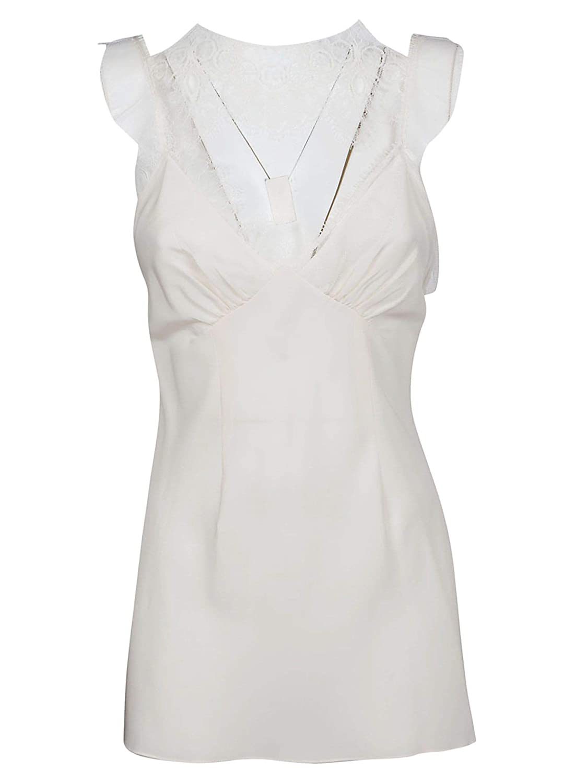 Victoria Beckham Women's TPVST1841VANILLA White Silk Top