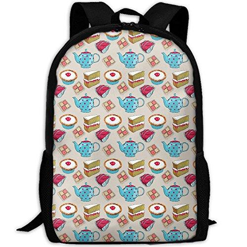 Adult Backpack Travel Hiking Dessert Cartoon School Multipurpose Laptop Bags Stylish Durable Daypacks