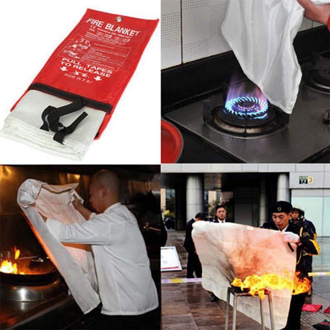 Ladiy Useful Fiberglass Fire Escape Anti-flame Retardant Fire Blanket Emergency Blankets by Ladiy (Image #3)