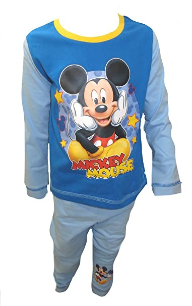 Disney Pijamas lindos de Mickey Mouse Little Boy 18-24 meses