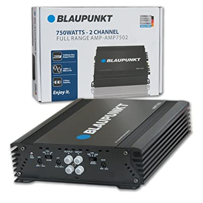 Blaupunkt 750W 2-Channel, Full-Range Amplifier (AMP7502): Electronics