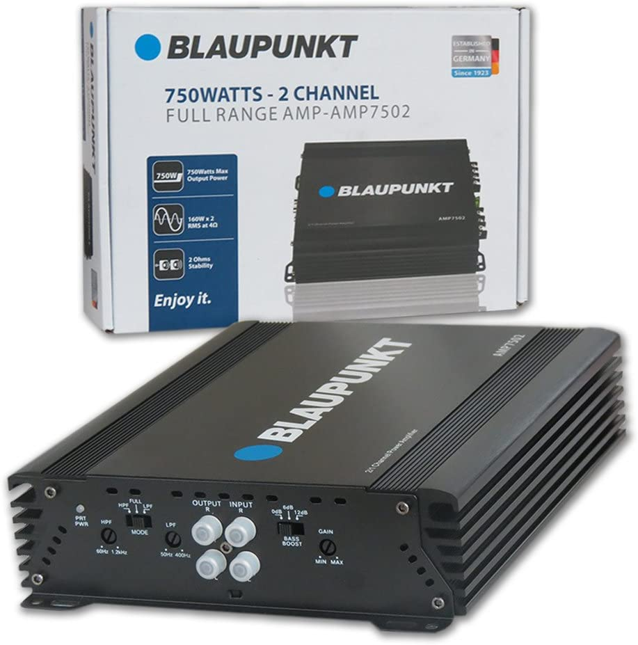BLAUPUNKT 750W 2-Channel, Full-Range Amplifier (AMP7502)