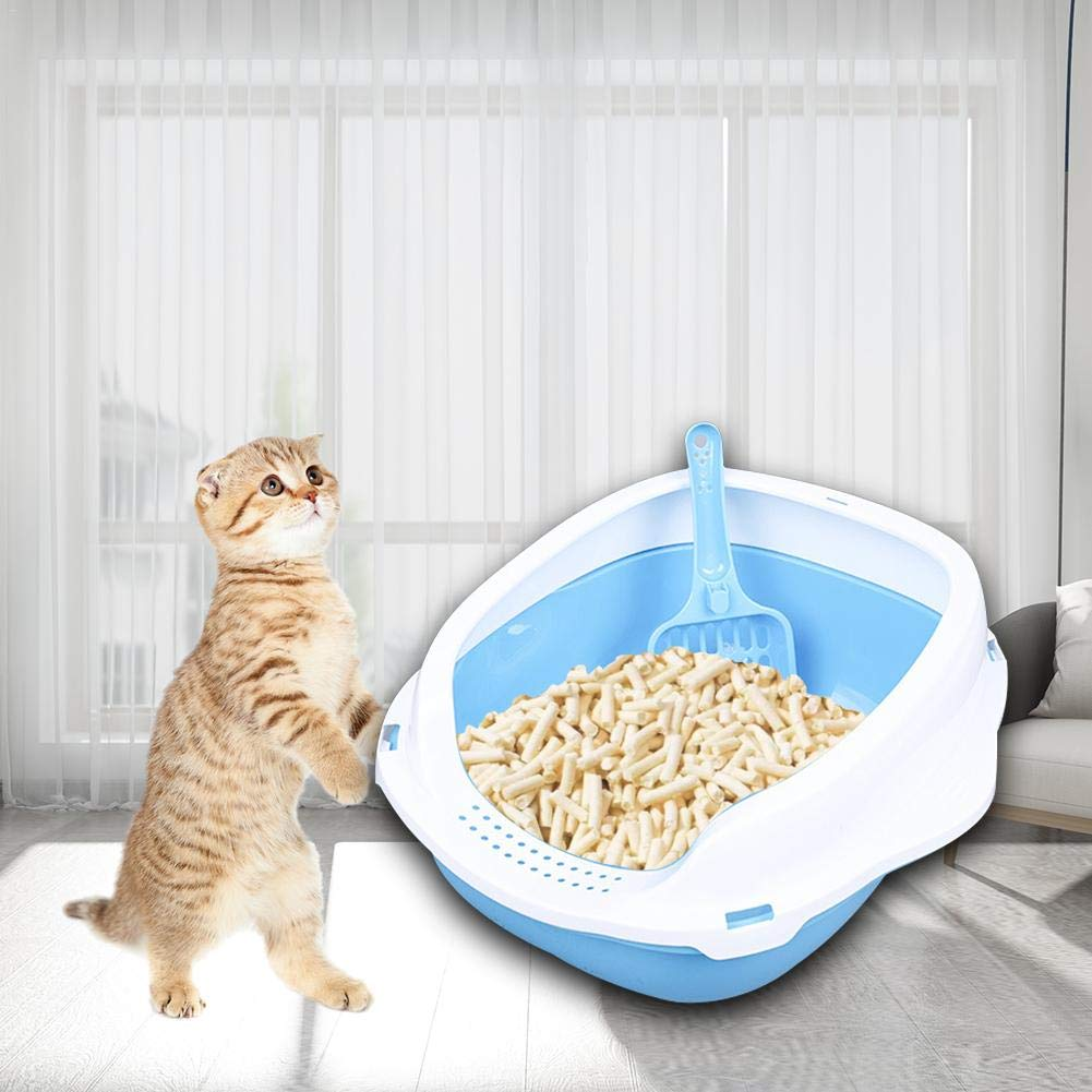 Cute Shaped Cat Toilet with Shovels Suitable for Cats and Small Dogs Urnanal Semi-Enclosed Cat Litter Box