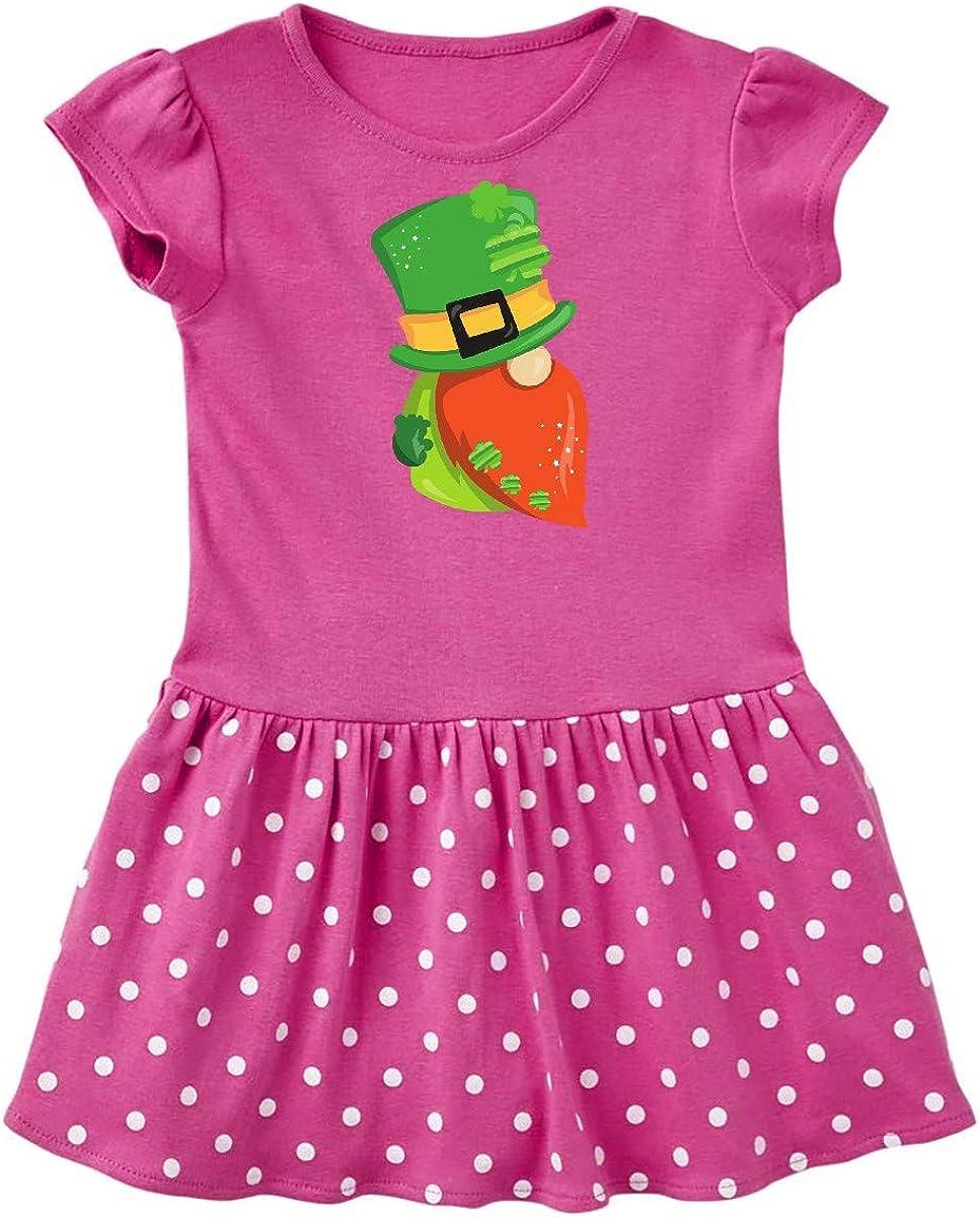 inktastic Saint Patricks Day Gnome Gnome with Black Hat Infant Tutu Bodysuit