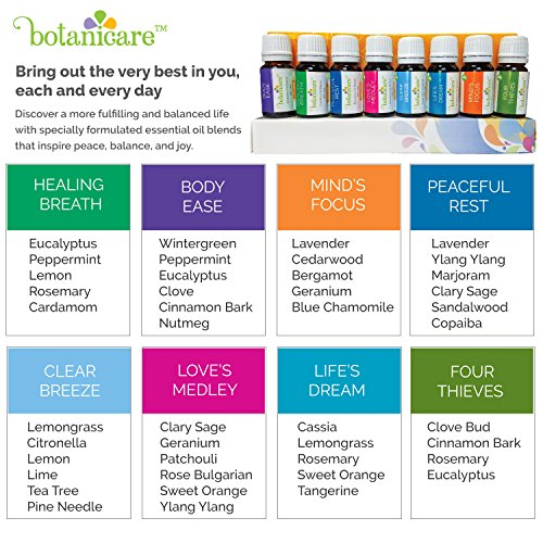 Top Essential Oil Blends Aromatherapy Kit 8 10ml Bottles Great For Diffuser Oil Or Diy Projects Like Lotion Soap Bath Bombs Or Bath Salts Also For An Aromatherapy Diffuser Perfect