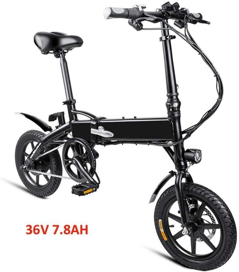 QUETAZHI Adulto eléctrica plegable de bicicletas, Diente de motor ...