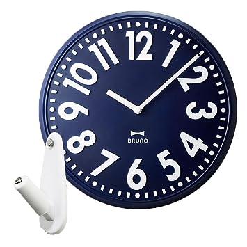 8730fe174c BRUNO ブルーノ エンボスウォールクロック + 壁の穴が目立ちにくい時計用壁掛けフック