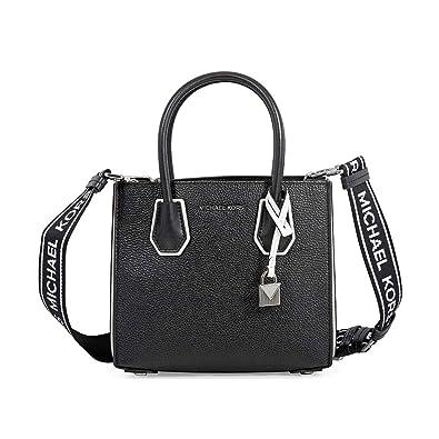 410258ded1f277 Michael Kors Mercer Accordion Logo Crossbody BLK/OPTICWHT: Handbags:  Amazon.com