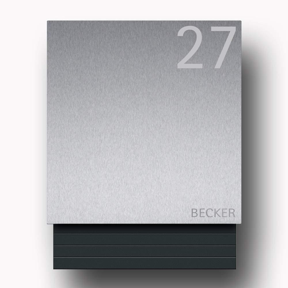 Namensbeschriftung T/üranschlag links Briefkasten Edelstahl B1 Light Number inkl