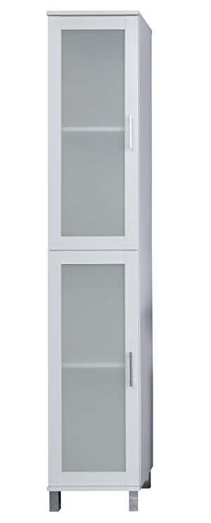 Trendteam Smart Living Badezimmer Hochschrank Schrank Florida 35 X 188 X 33 Cm In Weiss Mit Viel Stauraum