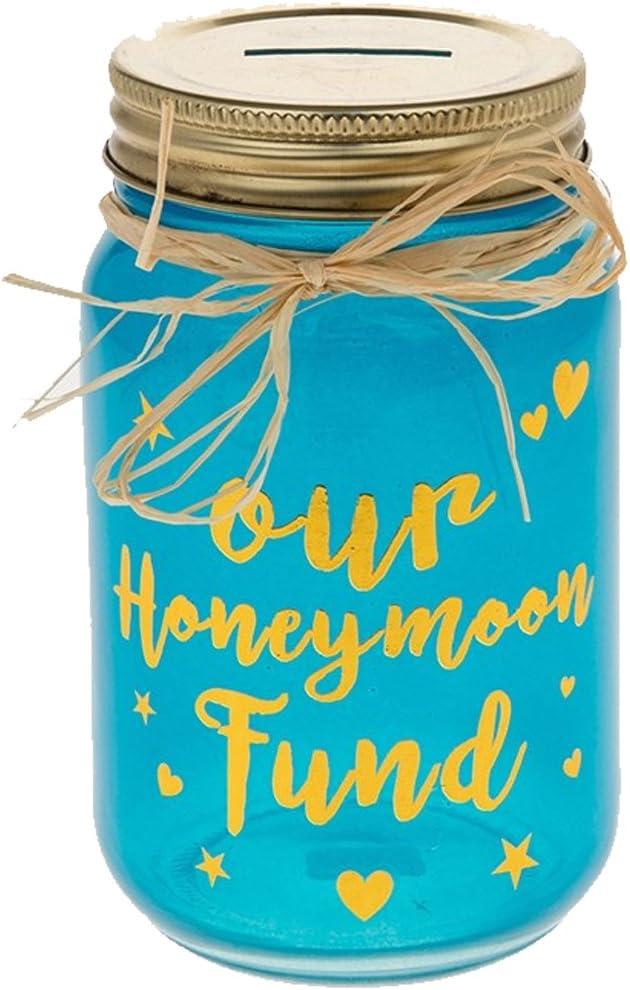 Glamorous Honeymoon Fund Jam Jar Money Box Gift Amazon Co Uk Toys Games