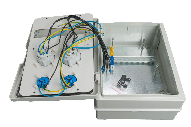 Baustromverteiler IP65 1 x CEE16A/400V + 1 x CEE16A/400V + 2 x ...