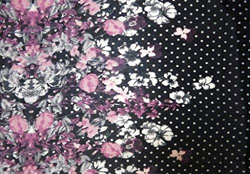accessu - Poncho - para mujer rosa/lila/schwarz/weiß