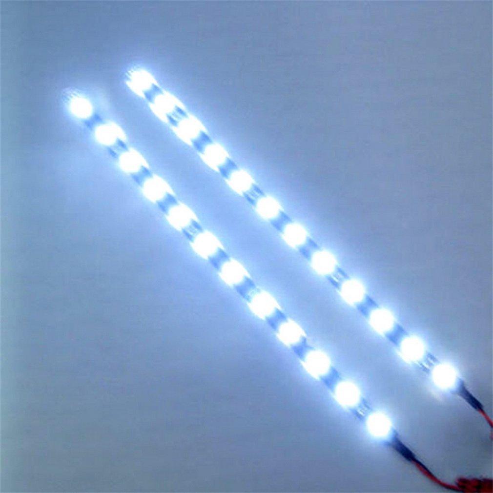 Symboat 30 cm 12 V 15 LED Voiture Auto Moto É tanche Bande Lampe Flexible Flexible Vé hicule Flexible Led Rayures Feux de jour 1vl3ty0ap9nm7bp4