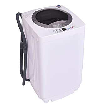 Giantex Portable Compact Full Automatic Laundry 1.6 Cu. Ft. Washing Machine  8 Lbs