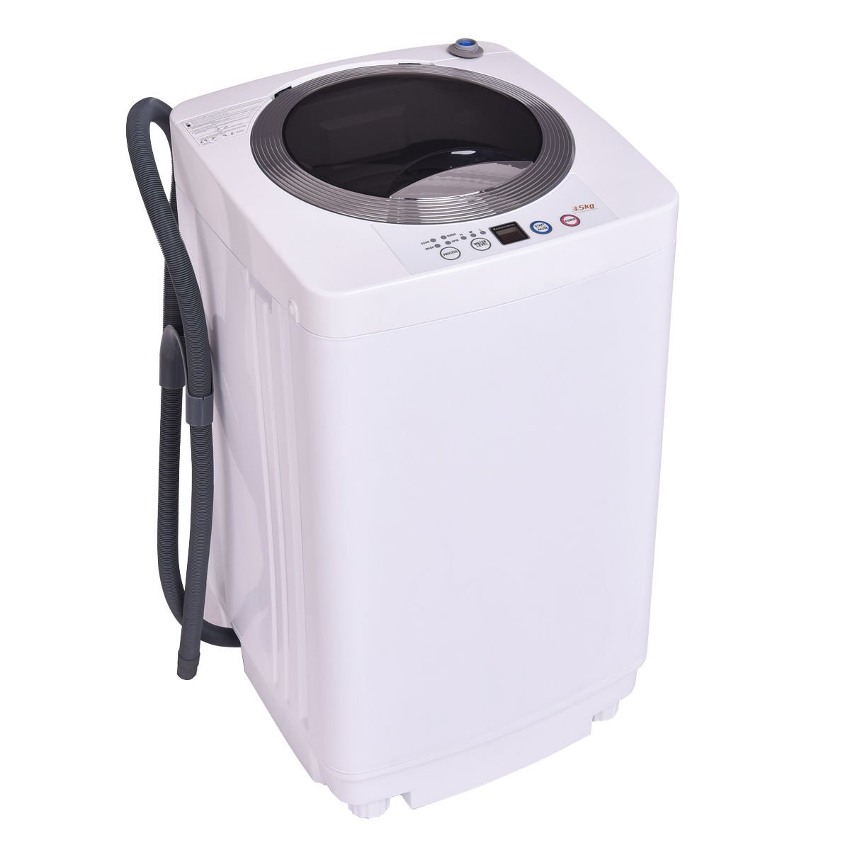 Giantex Portable Compact Full-Automatic Laundry 1.6 Cu. ft. Washing Machine 8 Lbs Washer/Spinner W/Drain Pump by Giantex