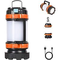 Flintronic Led-campinglamp, 1000 lumen, oplaadbare handlamp, waterdichte zoeklamp met 4 lichtmodi en USB-kabel, 3600 mAh…