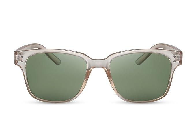 Cheapass Verspiegelte Sonnenbrille Rund-e Brille Schwarz Blau-Grün UV-400 Damen Herren XUV1Cb