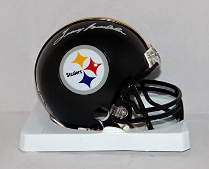 59c8d16ff Image Unavailable. Image not available for. Color  Terry Bradshaw  Autographed Pittsburgh Steelers Mini Helmet- ...