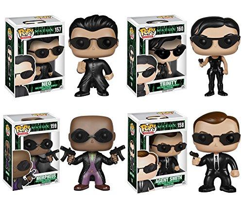 Funko The Matrix POP! Movies Vinyl Collectors Set: Neo, Trinity, Morpheus & Agent Smith Action Figure