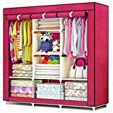 Berry Multipurpose Foldable Collapsible Cabinet Wardrobe,130X45X75CM,Red