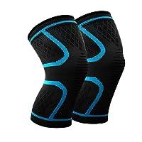 宽匠 运动护膝 夏季跑步篮球骑行健身防滑男女透气 薄款彩色尼龙护膝一对装