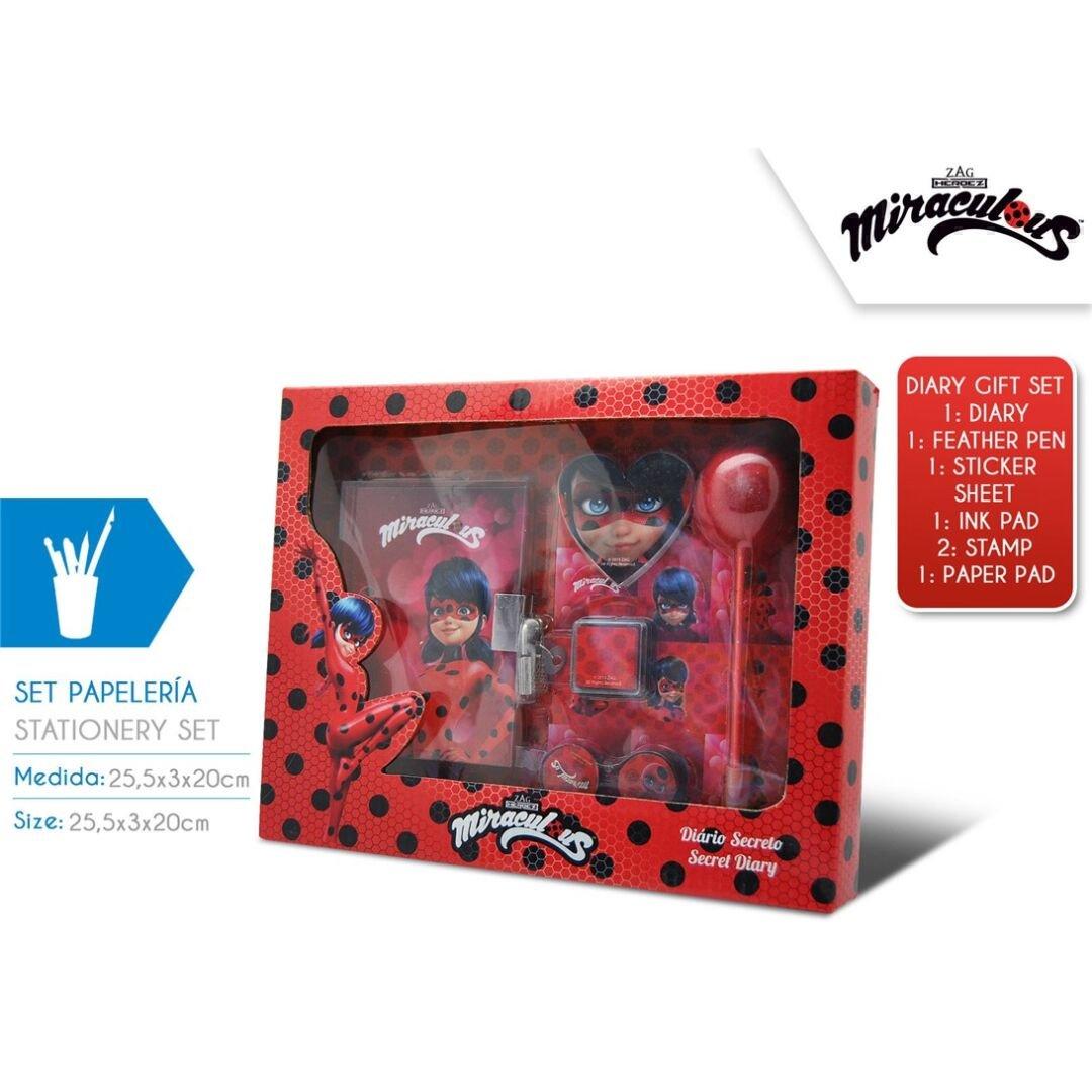 Disney–Ladybug Set 7pezzi Cancelleria, ly17096 KIDS EUROSWAN