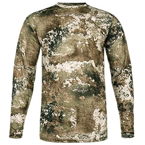 Performance Camo Hunting Shirt: All Season Odor and Insect Protection (X-Large, Strata)