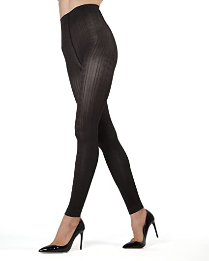 2626b4225 MeMoi Textured Footless Tights