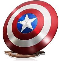 ZYER Los Vengadores Marvel Capitán América Disfraz de Metal Shield +Soporte de Madera Adulto Uno Tamaño 1: 1 Apoyos de…