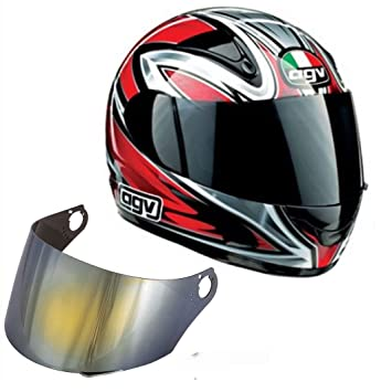 Visera casco integral AGV GP1 – MDS batok – Demon Top Espejo Espejo Plateado Oro Original