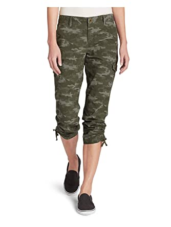 93c00af1c3 Eddie Bauer Women's Adventurer Stretch Ripstop Cropped Cargo Pants - Camo -  Slig at Amazon Women's Clothing store: