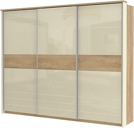 armario armario de puertas correderas Lepa 06, color: roble marrón/crema brillante – Dimensiones: 225 x 278 x 64 cm (H x B x T): Amazon.es: Bricolaje y herramientas