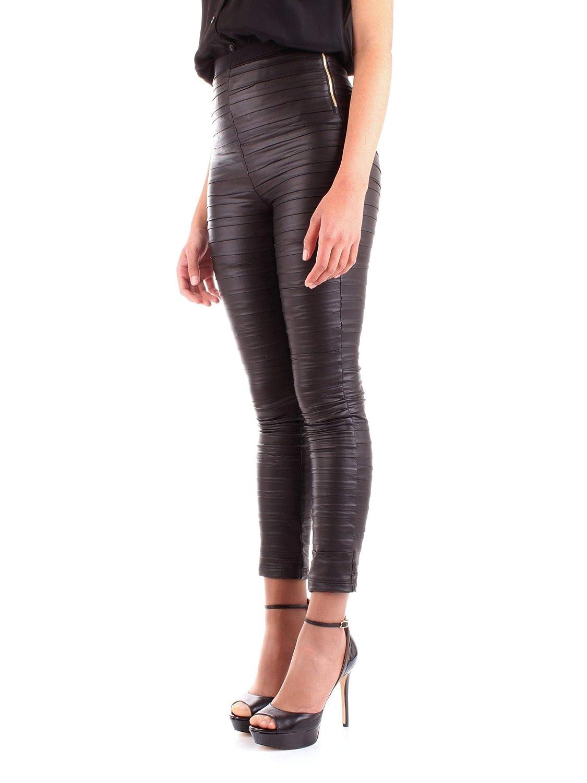 Patrizia Pepe Womens 8L0313A1WBK103 Black Polyester Leggings